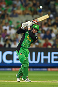14th January 2019, Melbourne Cricket Ground, Melbourne, Australia; Australian Big Bash Cricket, Melbourne Stars versus Hobart Hurricanes; Ben Dunk of the Melbourne Stars flicks the ball