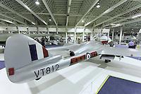 De Havilland Vampire F3 VT812, Royal Air Force Museum Hendon, Photography After Hours, 19 April 2013, (Photo by Richard Goldschmidt)