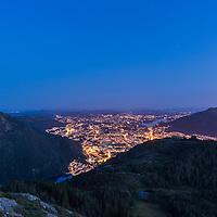 Moon over Bergen a summer night