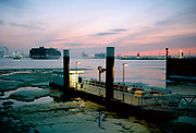 Port of Rotterdam, Pistool haven Ferry boat service platform. © Holland Kodak Ektar serie
