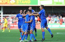 Joe Martin of Stevenage celebrates his goal - Mandatory by-line: Nizaam Jones/JMP - 02/09/2017 - FOOTBALL - LCI Rail Stadium - Cheltenham, England - Cheltenham Town v Stevenage- Sky Bet League Two