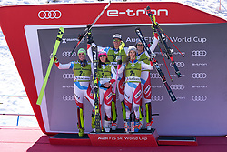 March 15, 2019 - Andorra - Team Swiss in the podium of the Alpine Team's race, Audi Fis Alpine Ski World Cup, Finals Round, on March 15, 2019 in Soldeu - El Tarter, Andorra (Credit Image: © AFP7 via ZUMA Wire)