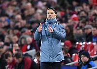 FUSSBALL CHAMPIONS LEAGUE SAISON 2018/2019 ACHTELFINAL HINSPIEL FC Liverpool - FC Bayern Muenchen          19.02.2019 Trainer Niko Kovac (FC Bayern Muenchen) mit Daumen hoch
