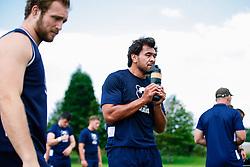 Steven Luatua looks on during week 1 of Bristol Bears pre-season training ahead of the 19/20 Gallagher Premiership season - Rogan/JMP - 03/07/2019 - RUGBY UNION - Clifton Rugby Club - Bristol, England.