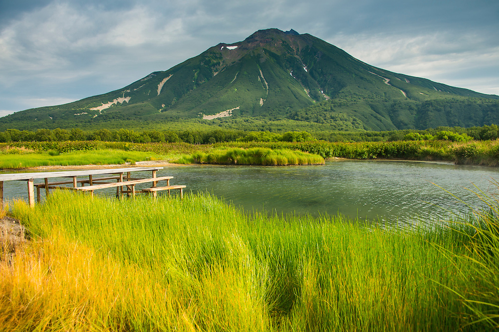 Hot river in the south of Kamchatka, Russia