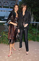 Left to right, sisters MISHA SUNDSTAD and CHRISTINA ESTRADA JUFFALI at a summer party hosted by champagne house Krug held at Debbenham House, 8 Addison Road, London on 28th June 2005.<br />