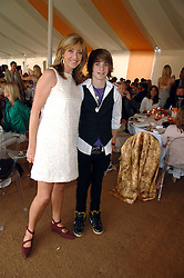 Actress SHARON MAUGHAN and her son GEORGE EVE at the final of the Veuve Clicquot Gold Cup 2007 at Cowdray Park, West Sussex on 22nd July 2007.<br />