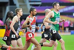 22/07/2017 : Michael McKillop (IRL), Liam Stanley (CAN), Jonathan Sum (KEN), Hafid Aharak (MAR), T37, Men's 1500m, Final, at the 2017 World Para Athletics Championships, Olympic Stadium, London, United Kingdom