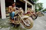 Rattan motorbikes.