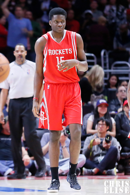 11 February 2015: Houston Rockets center Clint Capela (15) is seen during the Los Angeles Clippers 110-95 victory over the Houston Rockets, at the Staples Center, Los Angeles, California, USA.