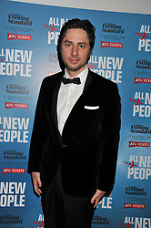 ZACH BRAFF at an after show party following the opening night of All New People held at the St.Martin's Lane Hotel, London on 28th February 2012.