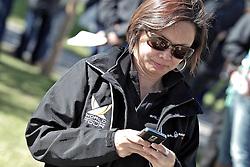 Audrey Lakai, Communications Director, WMRT. St Moritz Match Race 2010. World Match Racing Tour. St Moritz, Switzerland. 3rd September 2010. Photo: Ian Roman/WMRT.