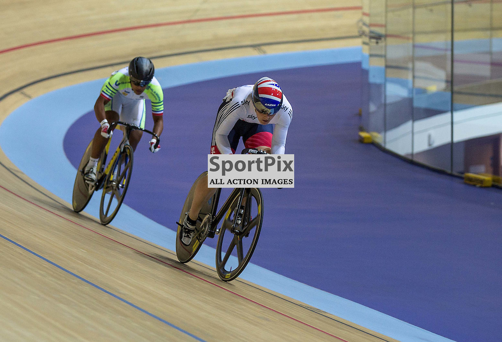 Action from the Men's sprint at the Revoultion Series 2015/6 Round 1 Derby, Day 2, on 15 August 2015 ( (Photo by Mike Poole - Photopoole)