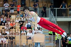 Kohei Kameyama of Japan at Pommel Horse during Finals of Artistic Gymnastics FIG World Challenge Koper 2018, on June 2, 2018 in Arena Bonifika, Koper, Slovenia. Photo by Urban Urbanc / Sportida