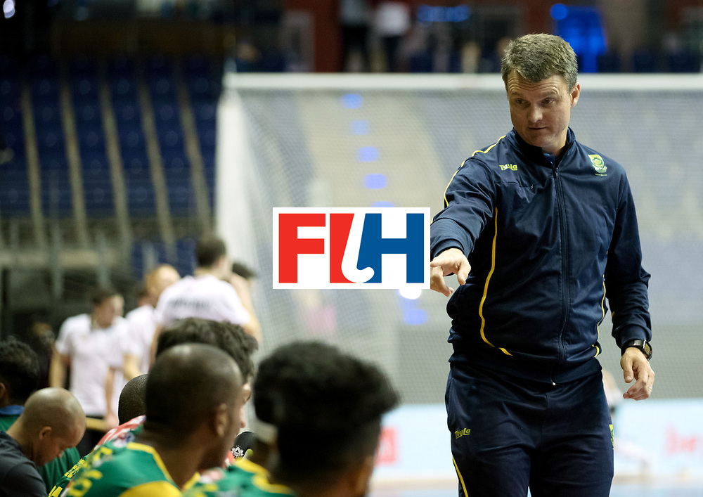 BERLIN - Indoor Hockey World Cup<br /> Men: Russia - South Africa<br /> foto: LE ROUX Pierre.<br /> COPYRIGHT WILLEM VERNES