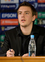 PR of Slovenia Matjaz Krajnik at press conference a day before FIFA World Cup 2010 Qualifying match between Russia and Slovenia, on November 13, 2009, in Stadium Luzhniki, Moscow, Russia.  (Photo by Vid Ponikvar / Sportida)