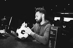 Matty Taylor in action as Bristol City players visit the Belong by GAME gaming arena to play the new FIFA 18 - Rogan/JMP - 27/09/2017 - Merchant Street - Bristol, England.