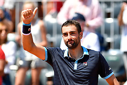 PARIS, June 1, 2017  Marin Cilic of Croatia greets the spectators after the men's singles 2nd round match against Konstantin Kravchuk of Russia at the French Open Tennis Tournament 2017 in Paris, France, on June 1, 2017. (Credit Image: © Chen Yichen/Xinhua via ZUMA Wire)