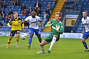 Christian Walton during the Sky Bet League 1 match between Bury and Fleetwood Town at Gigg Lane, Bury, England on 18 August 2015. Photo by Mark Pollitt.
