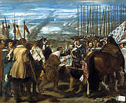 Diego Velázquez (1599 - 1660) The Surrender of Breda 1635. The Dutch fortress city of Breda fell to a Spanish army under Ambrosio Spinola in 1625