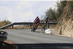 The breakaway group Willem Jakobus Smit (RSA) Katusha Alpecin, Sander Armee (BEL) Lotto-Soudal, Lastra Martinez (ESP) Caja Rural-Seguros-RGA and Angel Madrazo Ruiz (ESP) Burgos-BH descend from Gorga during Stage 2 of La Vuelta 2019 running 199.6km from Benidorm to Calpe, Spain. 25th August 2019.<br /> Picture: Eoin Clarke | Cyclefile<br /> <br /> All photos usage must carry mandatory copyright credit (© Cyclefile | Eoin Clarke)