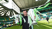 24/05/15 SCOTTISH PREMIERSHIP<br /> CELTIC v INVERNESS CT<br /> CELTIC PARK - GLASGOW<br /> Celtic manager Ronny Deila celebrates with the Scottish League Cup and the Scottish Premiership trophy<br /> ** ROTA IMAGE - FREE FOR USE **
