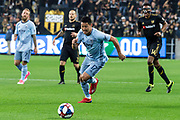 Sporting KC midfielder Roger Espinoza (17) during a MLS soccer match against the LAFC in Los Angeles, Sunday, March 3, 2019. LAFC defeated Sporting KC, 2-1. (Ed Ruvalcaba/Image of Sport)