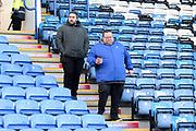 Fans arriving in the Fratton End stand ahead of the EFL Sky Bet League 1 match between Portsmouth and Ipswich Town at Fratton Park, Portsmouth, England on 21 December 2019.
