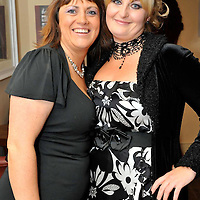 -FREE PICTURE / NO REPRODUCTION FEE-.Pictured at the annual Black and White Ball in the Blue Haven Hotel, Kinsale were Fiona Dyer and Mags Rice from Kinsale..Pic. John Allen
