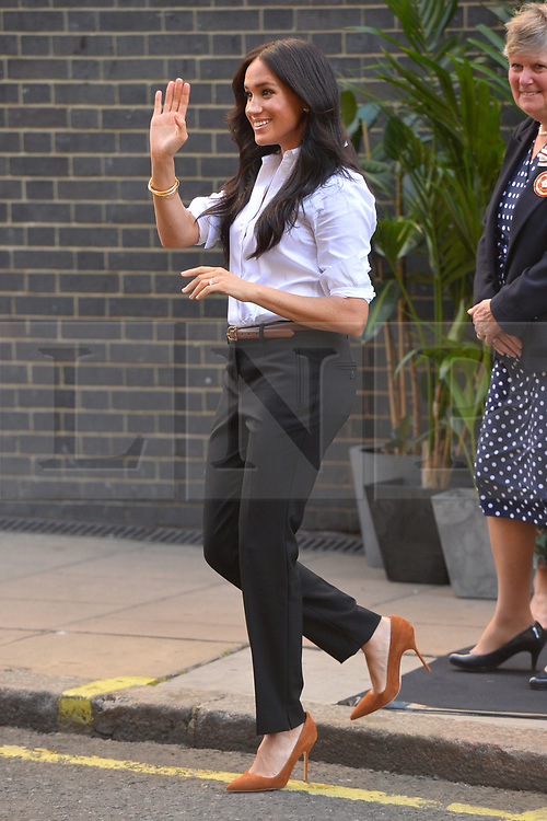 © Licensed to London News Pictures. 12/09/2019. London, UK. The Duchess of Sussex arrive at John Lewis store to launch Smart Works Capsule Collection. Photo credit: Ray Tang/LNP