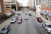 Iowa USA, IA. Sioux City, Aview of downtown as seen from the Skywalk November 2006