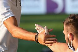 Handshake during friendly football match between NK Maribor and NS Mura, on August 12, 2020 in Ljudski vrt Maribor, Slovenia. Photo by: Milos Vujinovic /Sportida