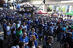 June 4, 2011; Vancouver, BC, CANADA; A general view as fans arrive for game two of the 2011 Stanley Cup Finals between the Vancouver Canucks and the Boston Bruins at Rogers Arena. Mandatory Credit: Jason O. Watson / US PRESSWIRE