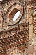 Architectural detail of San Ignacio de la Compania de Jesus church. Old Quarters, San Felipe, Panama City, Panama, Central America.