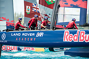 The Great Sound, Bermuda, 21st June 2017, Red Bull Youth America's Cup Finals. Race four. Land Rover BAR Academy (GBR)