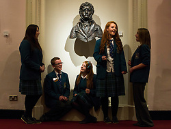 Pupils of Skerries Community College, Aebh Kelly, Emma Smullen, Ross Donnelly, Ella niChuin and Molly Brady are pictured as they prepair for their big perfomance at the Dublin and Dun Laoghaire Education Board (etb) Festival of Music in the National Concert Hall. Picture Andres Poveda