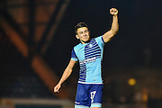 Wycombe Wanderers Midfielder, Luke O'Nien (17) celebrates at the final whistle during the EFL Sky Bet League 2 match between Wycombe Wanderers and Hartlepool United at Adams Park, High Wycombe, England on 26 November 2016. Photo by Adam Rivers.