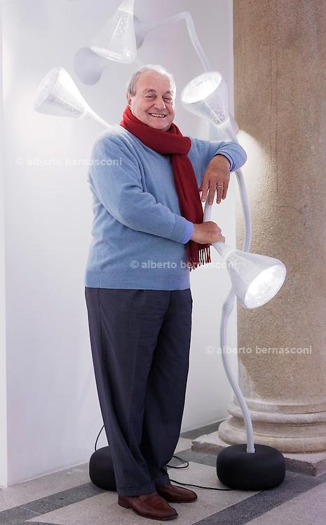 Milano,Ernesto Gismondi Fondatore e presidente della Artemide .