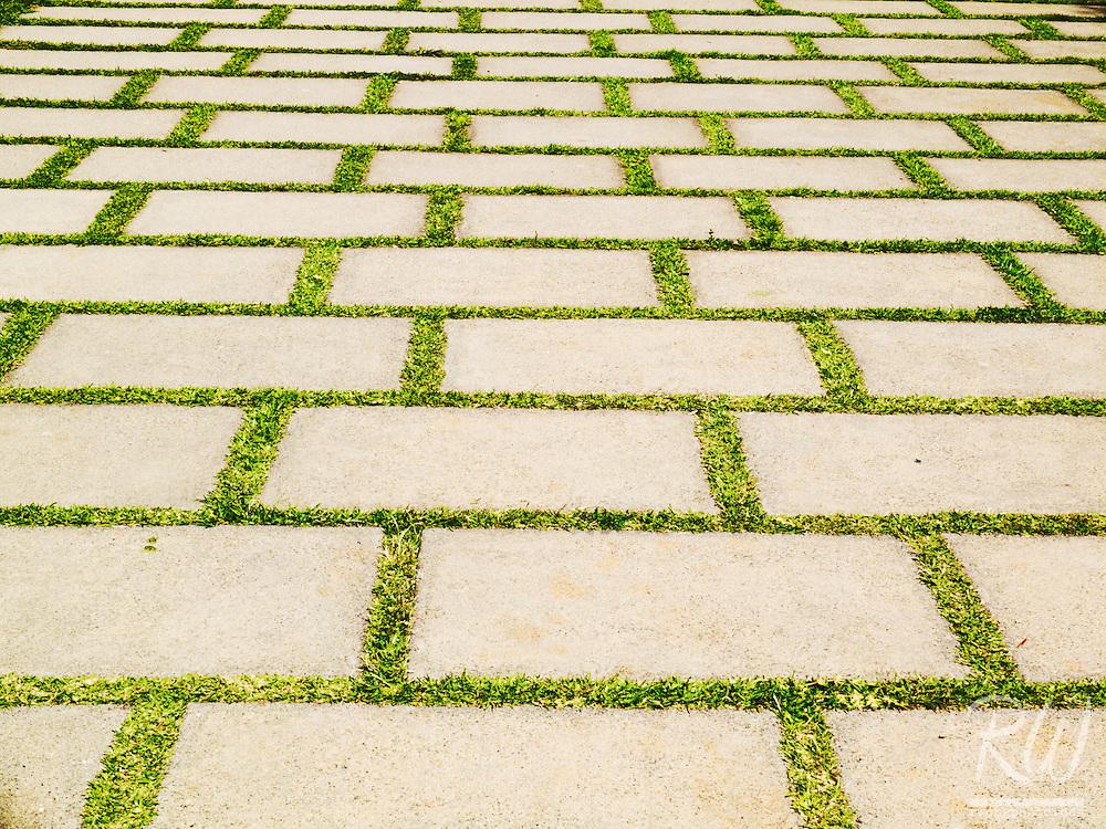 Pathway Ground Tile Patterns at Huntington Botanical Gardens, San Marino, California