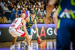 Gregor Glas of Slovenia during friendly basketball match between Slovenia and Croatia , on September 8, 2018 in Arena Zlatorog, Celje, Slovenia. Photo by Ziga Zupan / Sportida