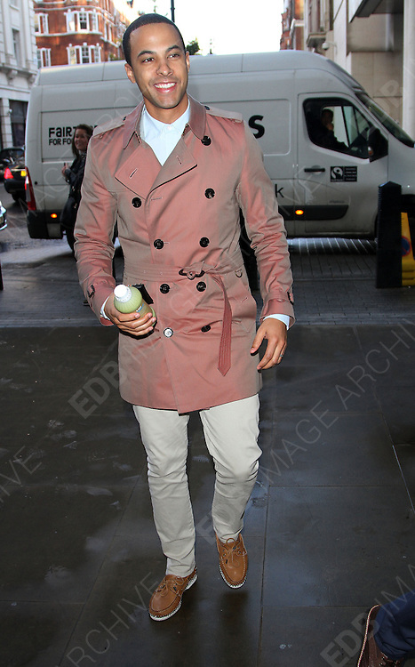 04.OCTOBER.2013. LONDON<br /> <br /> CODE  (MH)<br /> JLS BOYS ARRIVING AT THE  BBC RADIO ONE STUDIO IN LONDON, UK<br /> <br /> BYLINE: EDBIMAGEARCHIVE.CO.UK<br /> <br /> *THIS IMAGE IS STRICTLY FOR UK NEWSPAPERS AND MAGAZINES ONLY*<br /> *FOR WORLD WIDE SALES AND WEB USE PLEASE CONTACT EDBIMAGEARCHIVE - 0208 954 5968*