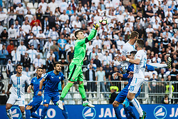 Dominik Livakovic #40 of GNK Dinamo Zagreb during football match between HNK Rijeka and GNK Dinamo Zagreb in Round #27 of 1st HNL League 2016/17, on November 5, 2016 in Rujevica stadium, Rijeka, Croatia. Photo by Grega Valancic / Sportida