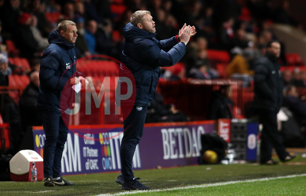 Peterborough United Manager Grant McCann encourages his players from the touchline - Mandatory by-line: Joe Dent/JMP - 28/11/2017 - FOOTBALL - The Valley - Charlton, London, England - Charlton Athletic v Peterborough United - Sky Bet League One