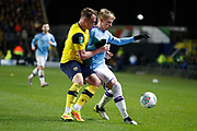 Oleksandr Zinchenko (11) of Manchester City during the EFL Cup match between Oxford United and Manchester City at the Kassam Stadium, Oxford, England on 18 December 2019.