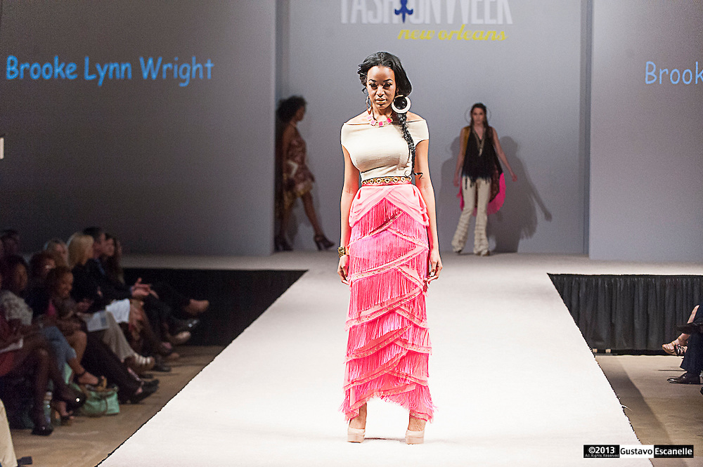 Fashion Designer Brooke Lynn Wright showing her Collection at Fashion Week New Orleans.