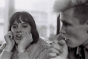 Close up of teenage boy and girl, Essex, UK, 1983
