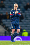 Steven Naismith (#9) of Scotland leaves the field after being substituted during the UEFA European 2020 Group I qualifier match between Scotland and Kazakhstan at Hampden Park, Glasgow, United Kingdom on 19 November 2019.