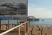 The burnt out hull of Brighton's old pier.