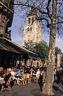 France. Paris. 6th district. Les Deux  Magots  , .Saint Germain Des Pres.
