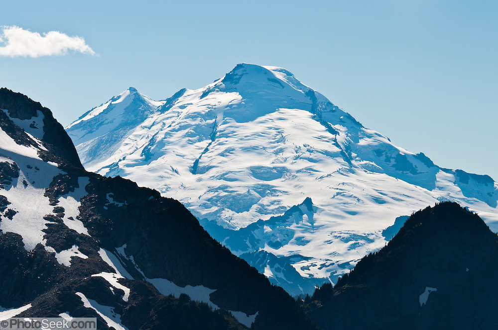 Mount Baker (10,781 feet elevation), seen from Hannegan Peak, North Cascades, Washington, USA